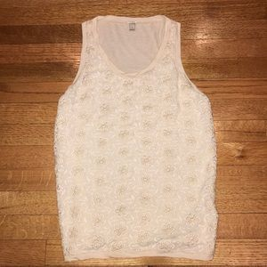 J. Crew lace front tank top